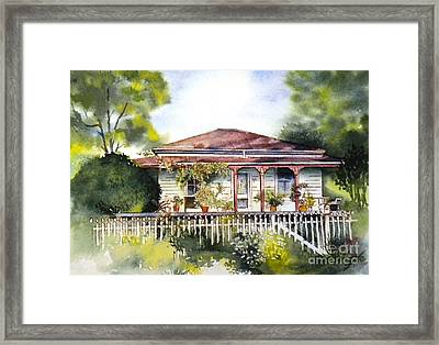 Danny Deck Chairs House  Framed Print