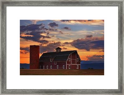 Danny's Barn Framed Print by Darren  White