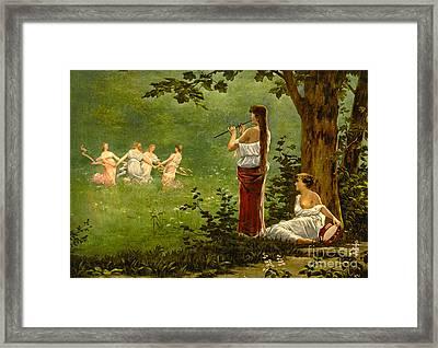 Dans La Prairie 1890 Framed Print by Padre Art