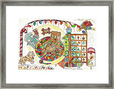 Dans Nos Vieilles Maisons / In Our Old Houses Framed Print