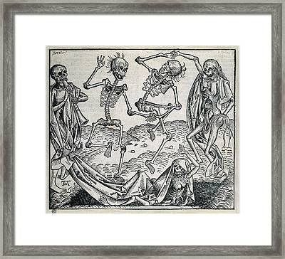 Danse Macabre Or Dance Of Death 1493 Framed Print by Everett