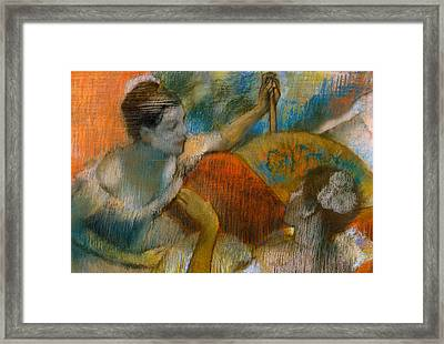 Danseuse A L'eventail Framed Print by Edgar Degas