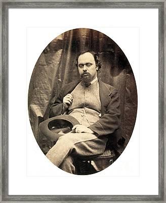 Dante Gabriel Rossetti English Poet Framed Print by Photo Researchers