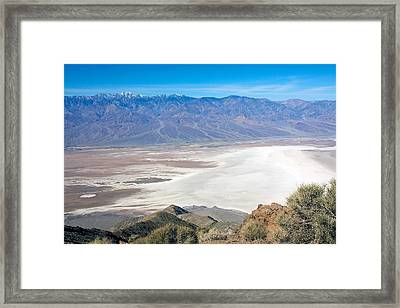 Framed Print featuring the photograph Dante's View #3 by Stuart Litoff