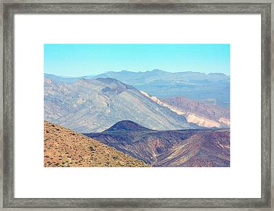 Framed Print featuring the photograph Dante's View #5 by Stuart Litoff