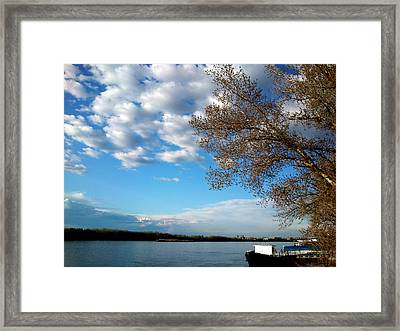 Framed Print featuring the photograph Danube by Lucy D