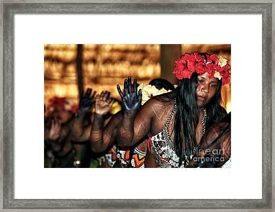 Danza Nativa Framed Print by John Rizzuto
