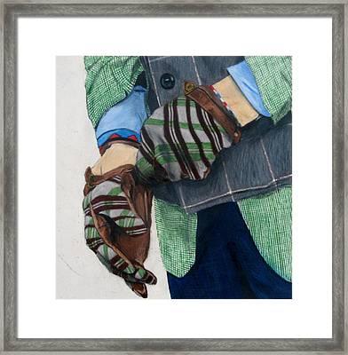 Dapper Gloves Framed Print