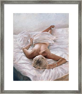 Dappled And Drowsy Framed Print by John Worthington