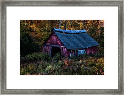 Dappled Light On The Sugar House Framed Print by Thomas Schoeller