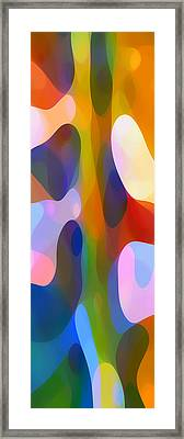 Dappled Light Panoramic Vertical 2 Framed Print by Amy Vangsgard