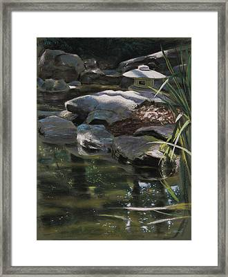 Dappled Light With Lantern Framed Print by Christopher Reid