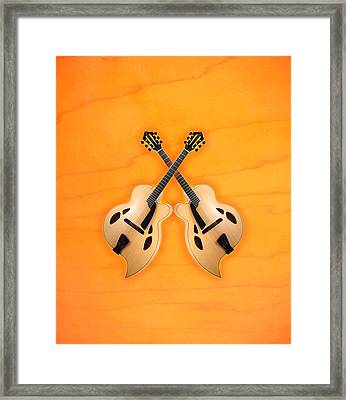 D'aquisto Acoustic Custom Framed Print