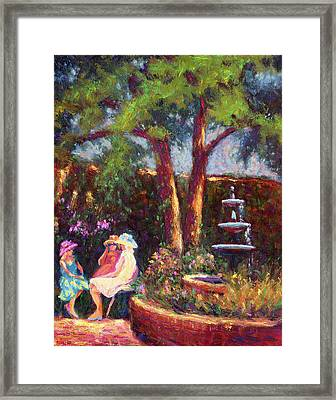 Dar Richards House Garden Party Framed Print