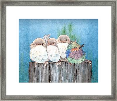 Dare To Be Different Framed Print by Julie Senf