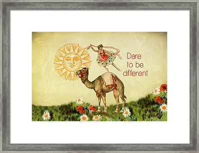 Dare To Be Different Framed Print by Peggy Collins
