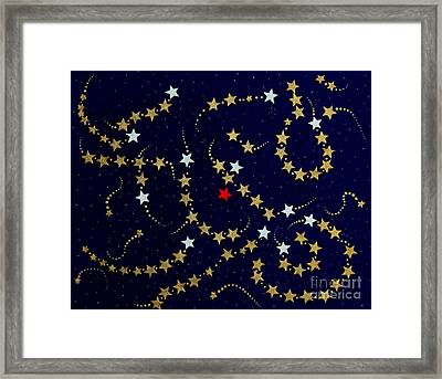 Dare To Be Different - Stars - Blazing Trails Framed Print by Barbara Griffin