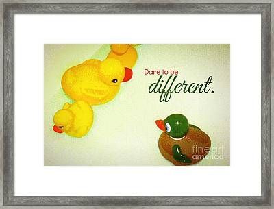 Framed Print featuring the digital art Dare To Be Different by Valerie Reeves