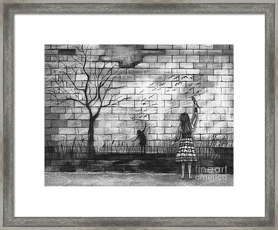 Dare To Be Framed Print by J Ferwerda