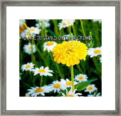 Dare To Stand Out In A Crowd Framed Print