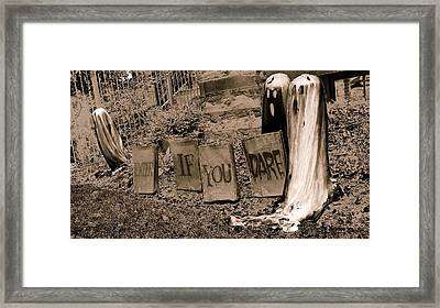 Dare You Framed Print