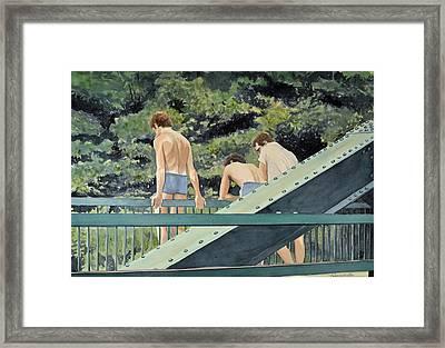 Dare You Framed Print by Thomas Stratton