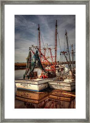 Darien Boats Framed Print by Greg and Chrystal Mimbs