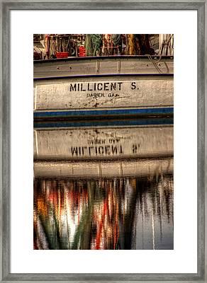 Darien Georgia Shrimp Boat Framed Print