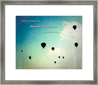 Framed Print featuring the photograph Daring Adventure Hot Air Balloons by Eleanor Abramson