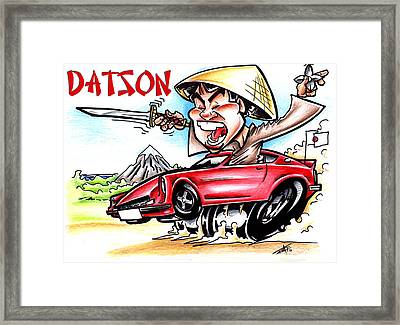 Daring Datson Framed Print by Big Mike Roate