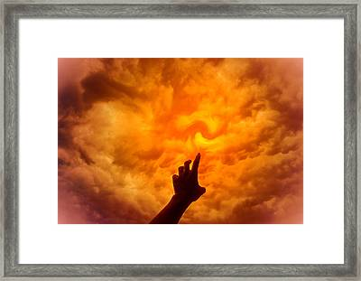 Dare To Reach Higher Framed Print by Kellice Swaggerty