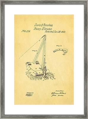 Daris Stump Elevator Patent Art 1861 Framed Print by Ian Monk