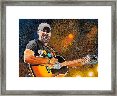 Darius In Concert Framed Print by Dino Murphy