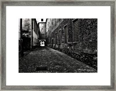 Dark Alley Framed Print