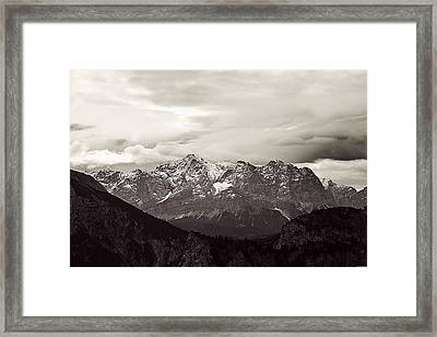 Dark Alps Framed Print