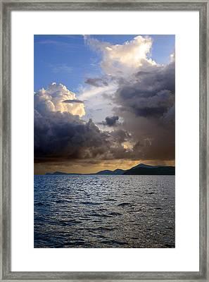 Dark And Stormy Framed Print by    Michael Glenn