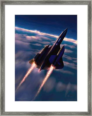 Framed Print featuring the painting Dark Angel by Dave Luebbert