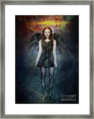 Dark Angel Framed Print by Michael Volpicelli