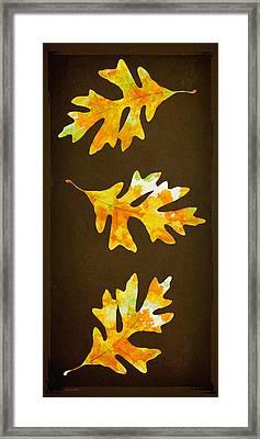 Autumn Oak Leaf Painting Framed Print
