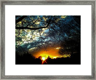 Dark Beauty Sunset Framed Print by James Hammen