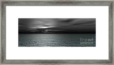 Dark Black Sea Framed Print