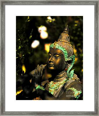 Night Bliss In Bronze Framed Print by Norman Gabitzsch