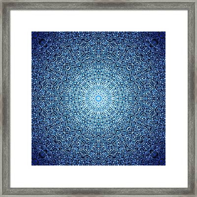 Dark Blue Quasicrystal Framed Print by Dan Gries