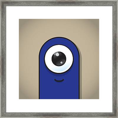 Dark Blue Framed Print by Samuel Whitton