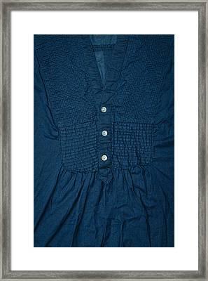 Dark Blue Top Framed Print by Tom Gowanlock