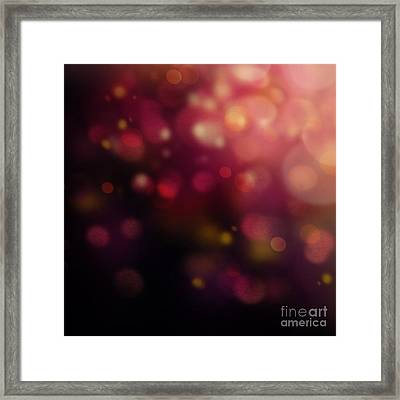 Dark Bokeh Framed Print by Mythja  Photography