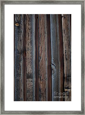 Dark Brown Wood Texture Framed Print