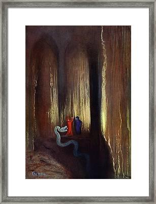 Dark Cavern, 1906 Framed Print