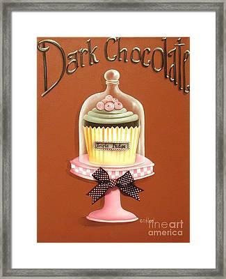 Dark Chocolate Cupcake Framed Print