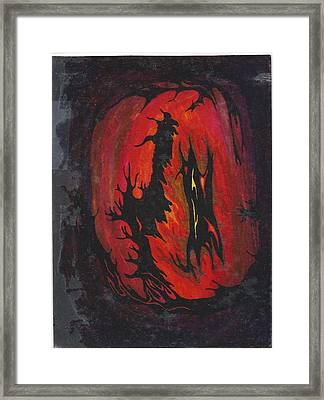 Dark Framed Print by Cim Paddock